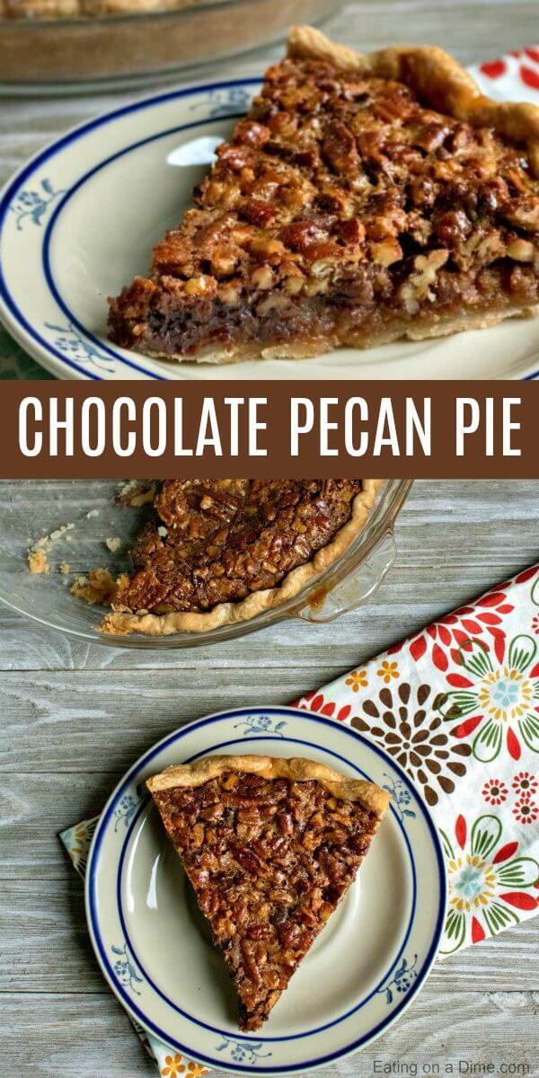 Chocolate Pecan Pie #pecanpierecipe