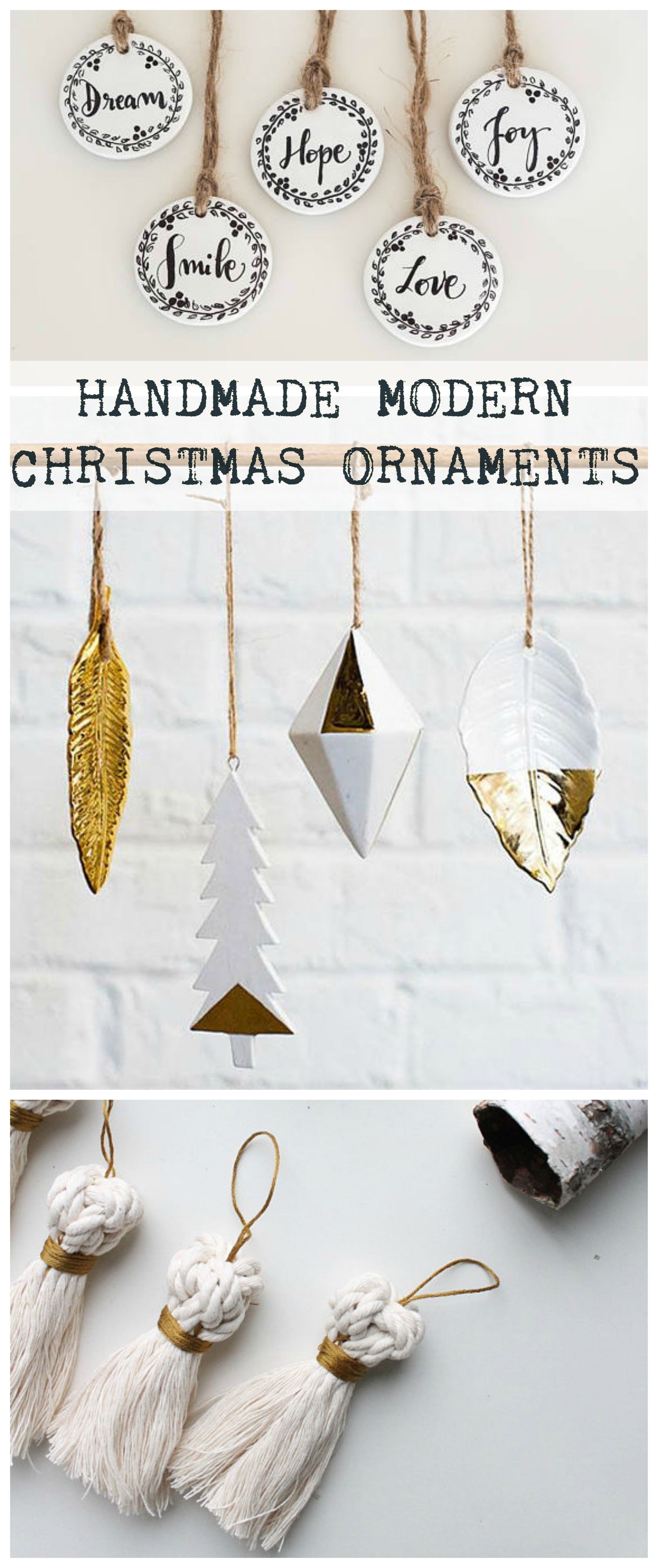 Gorgeous modern style handmade christmas ornaments to hang on the