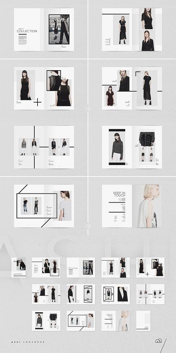 Ashi Fashion Lookbook Template #portfolio #lookbook #brochure #template #brochuretemplates #indesign #templates #layout #editorial #fashion