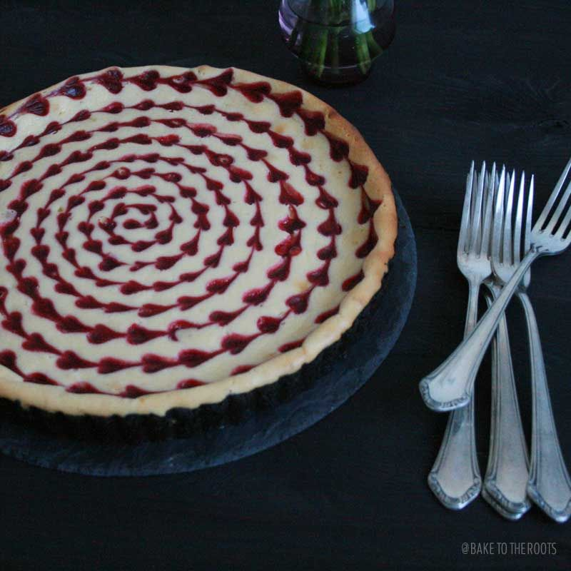 White Chocolate Raspberry Cheesecake | Bake to the roots