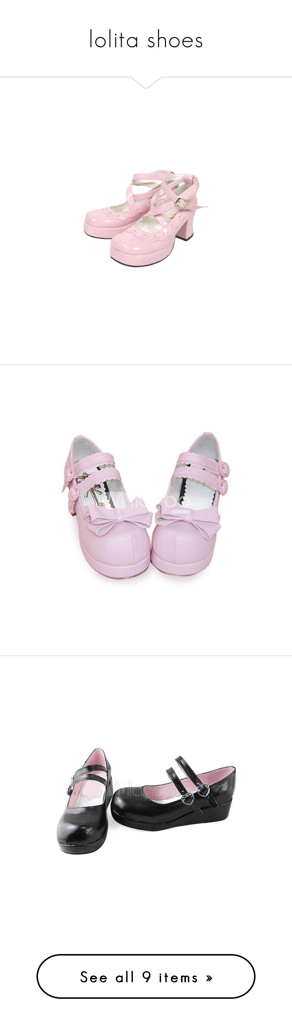 """""""lolita shoes"""" by cpfandomlover ❤ liked on Polyvore featuring shoes, lolita shoes, lolita, heels, pumps, pink bow pumps, mid heel platform shoes, pink bow shoes, mid heel shoes ve pink platform shoes"""
