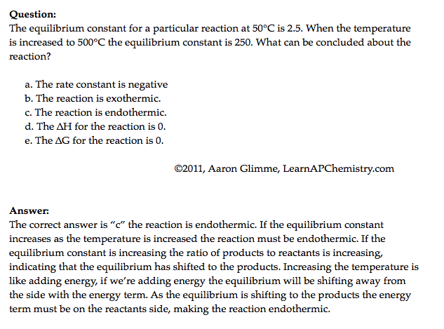 equilibrium constant (Big Idea 6)   AP Chemistry   Ap