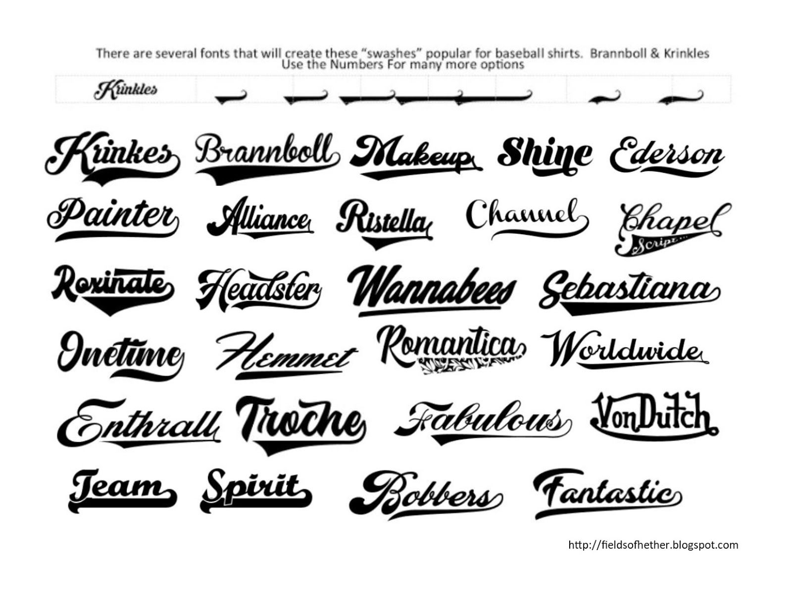 Fonts With Tails Glyphs Cheat Sheet Glyph Font Sports Fonts Cricut Fonts