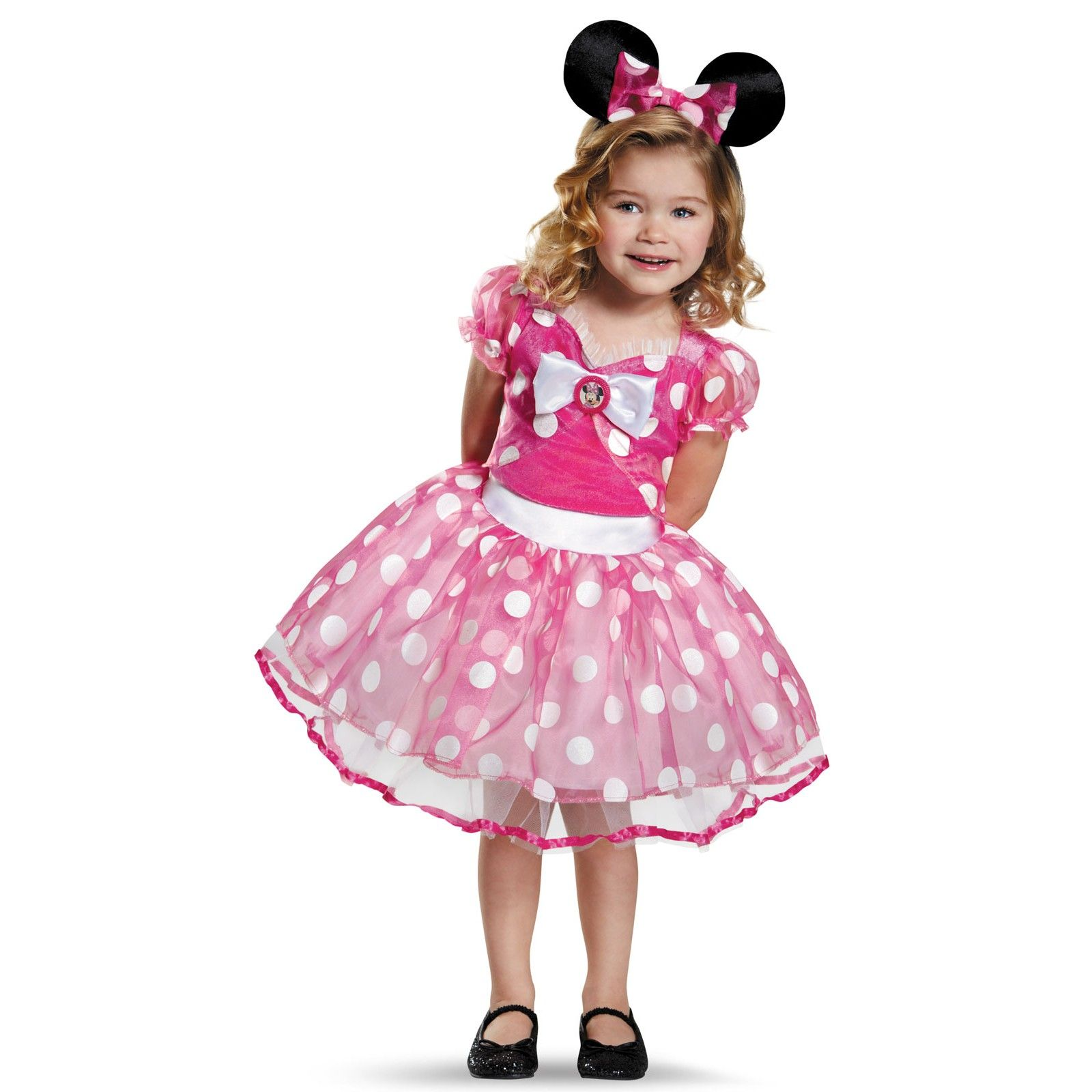 Pink Deluxe Minnie Mouse Tutu Costume For Girls