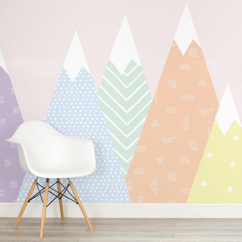 Patternedmountains Pastel Wallpaper
