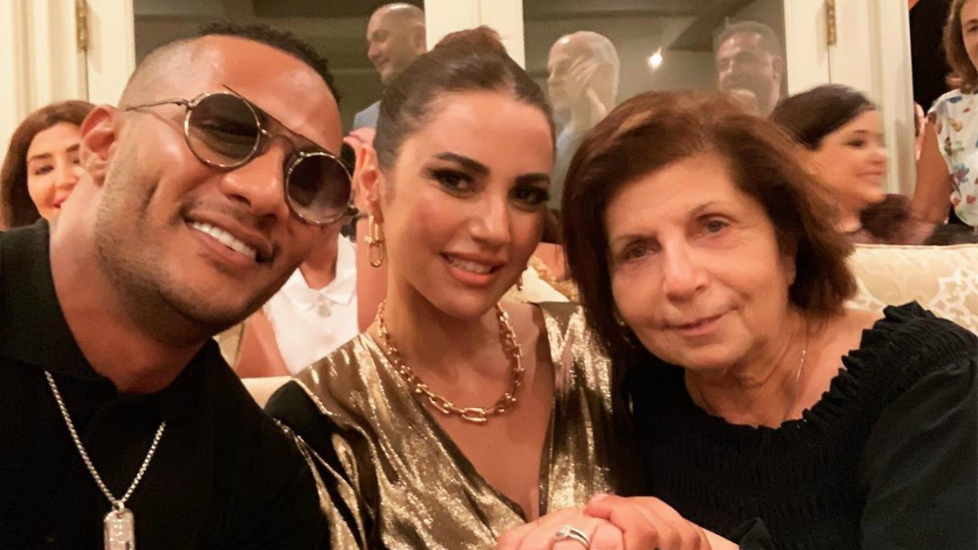Mohamed Ramadan And Dorra Meet Rami Malik S Mother Ramadan Egyptian Women Rami Malik