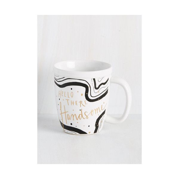 But First, Flattery Mug (56 SAR) ❤ liked on Polyvore featuring home, kitchen & dining, drinkware, drinkware and bar, kitchen, tabletop, white, inspirational mugs, white ceramic mug and white coffee mugs
