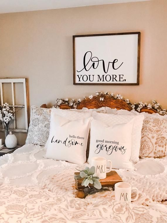 Good Morning Gorgeous, Couples Pillow, Wedding Pillow, Engagement Gift, Farmhouse Decor, Neutral, Pillow, Bedroom Decor, Funny Pillow