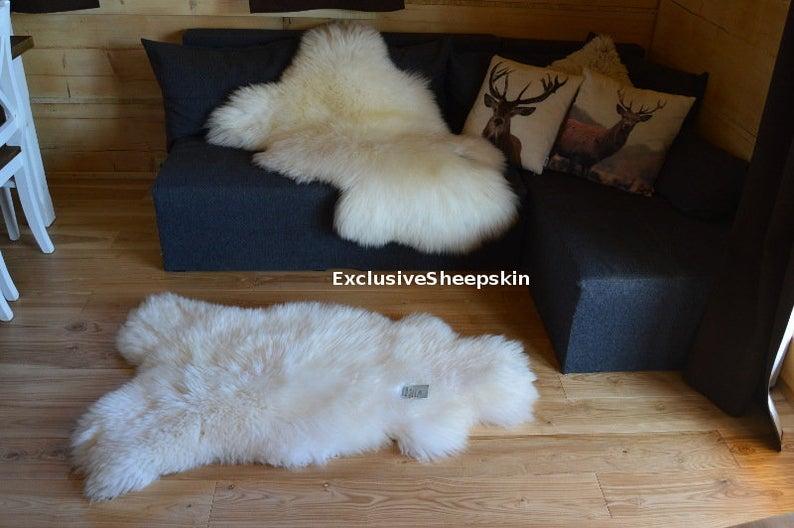 Genuine Sheepskin Rug 100 Natural Color Soft Long Wool Etsy In 2020 Sheepskin Rug Childrens Playroom Soft Rug