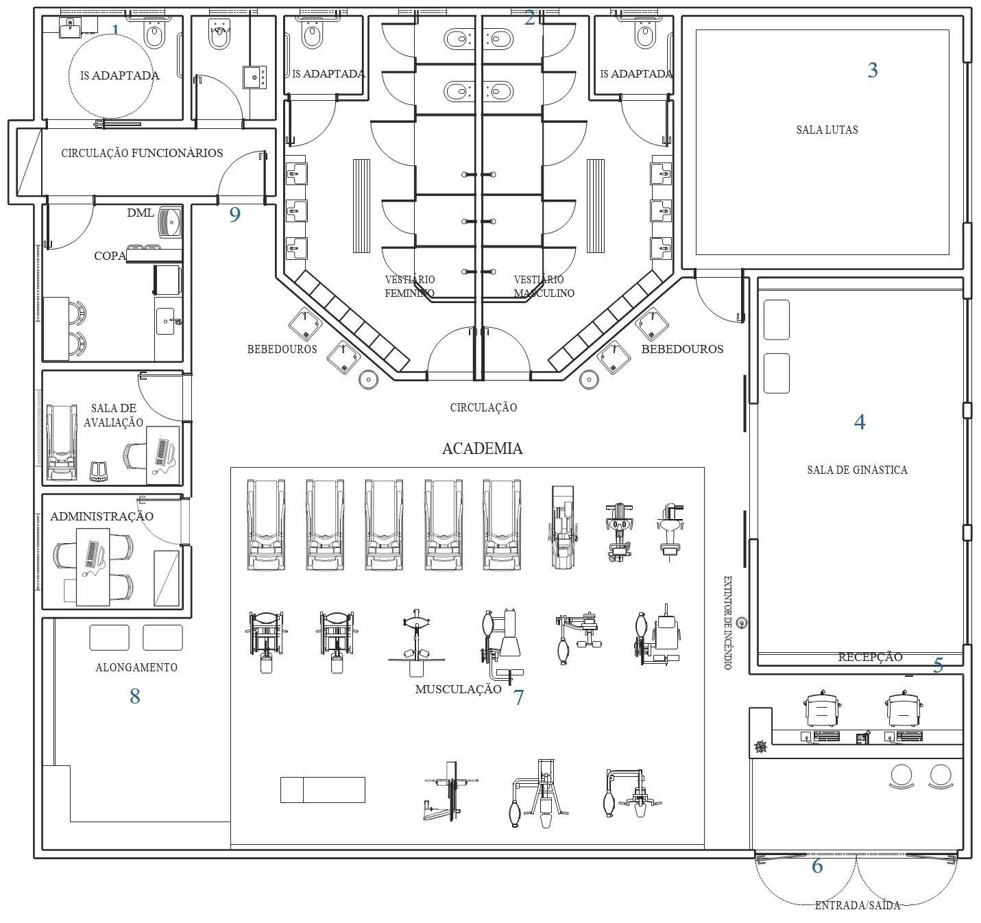 Layout De Academia De Ginastica Academias De Ginastica Projeto De Academia Em Casa Arquitetura De Academia