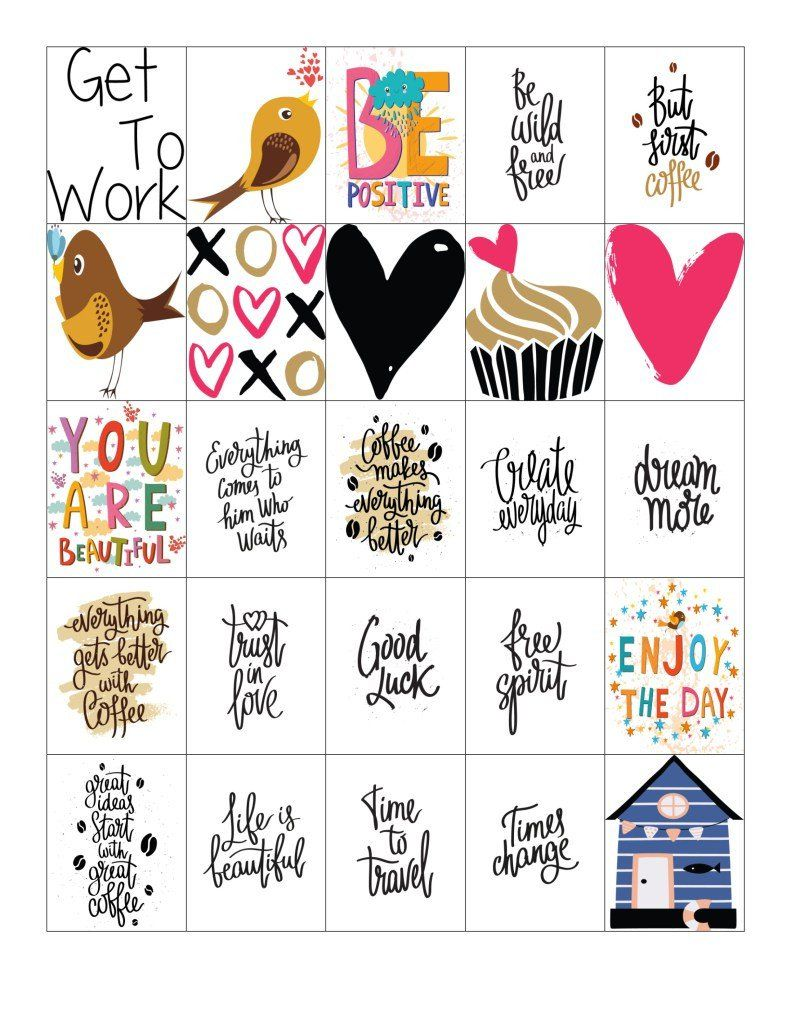 Free Printable-Quote Planner Sticker Sheet For Your Happy Planner or Erin Condren Planner