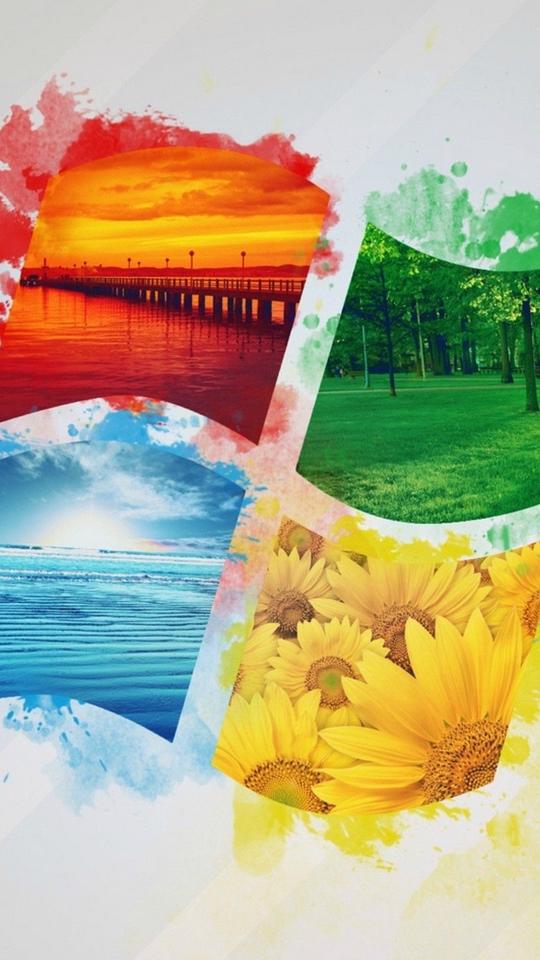 Download wallpaper 540x960 windows, logo, operating system