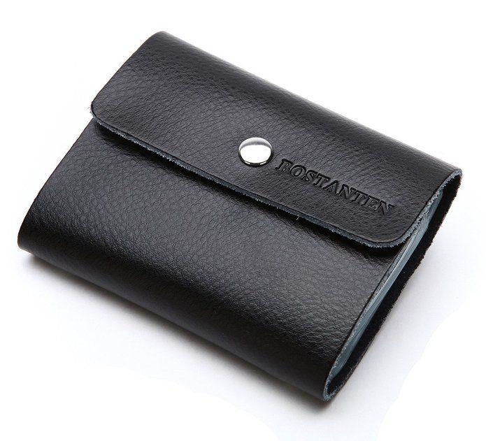 5c9396d2876 Bostanten Men s Cow Leather Thin Business Card Case Minimalist Wallets Black  http   www