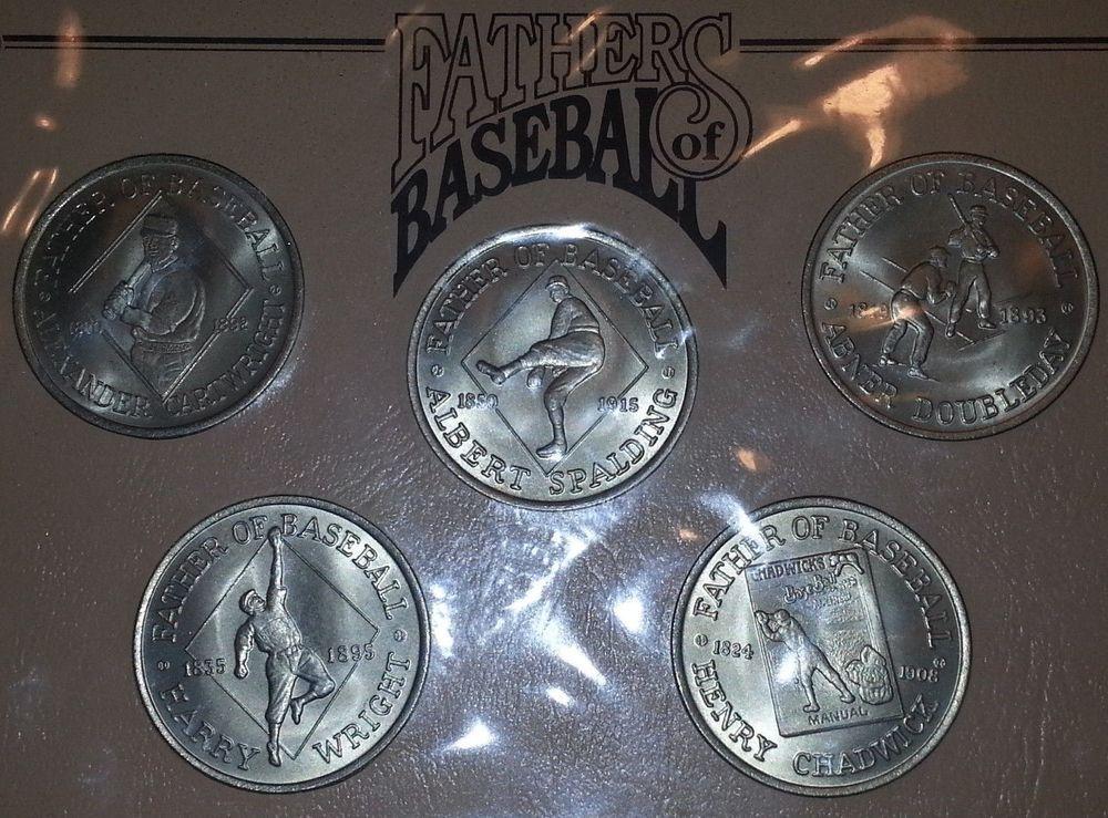 5 Dollar Proof Baseball Coins Spalding Doubleday Australia Hutt