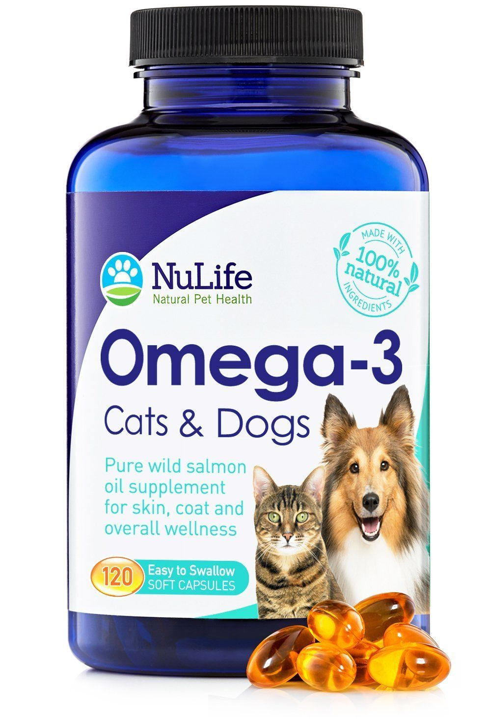 100 Pure Omega 3 Fish Oil for Dogs and Cats Wild