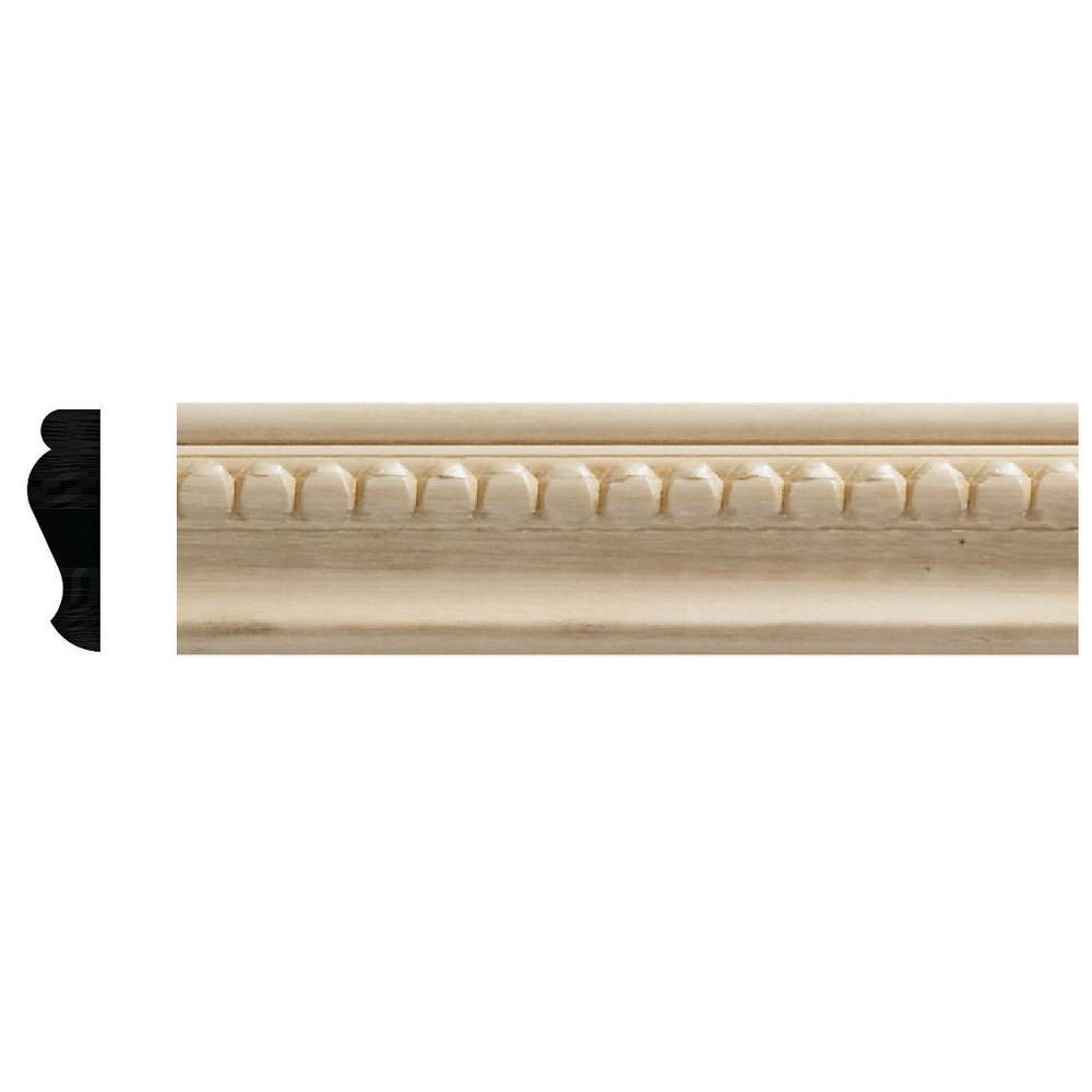 Ornamental Mouldings 1159 6 3 8 In X 1 1 4 In X 72 In White Hardwood Embossed Bead Trim Moulding 1159 Moldings And Trim Ornamental Mouldings Panel Moulding