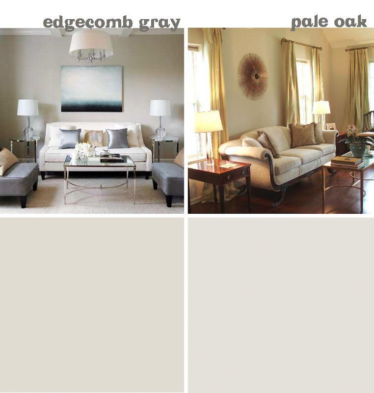 Benjamin Moore Edgecomb Gray And Pale Oak Wall Color