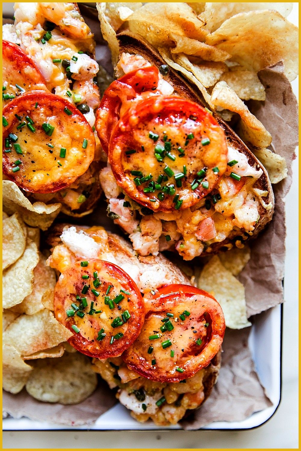 Melt with Capers and Old Bay Seasoning pescatarianrecipes Shrimp Melt with Capers and Old Bay Seasoning by The Modern Proper Shrimp Melt with Capers and Old Bay Seasoning...