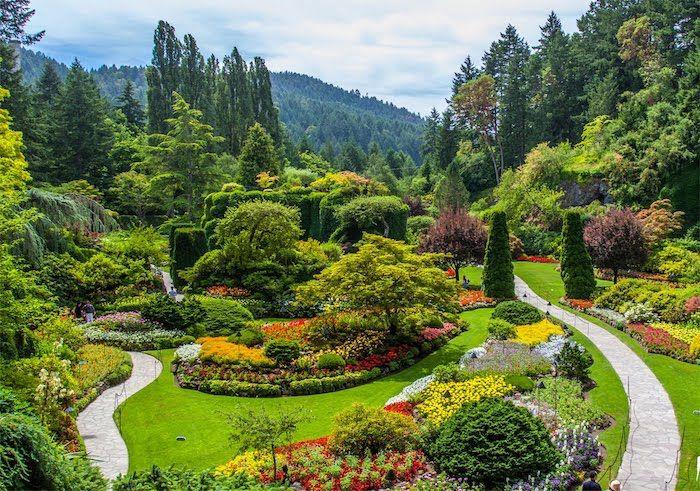 Garteninspirationen Grosser Garten Mit Pfade Aus Naturstein Pflegeleihte Gartenpflanzen In 2020 Garten Gestalten Gartengestaltung Gartengestaltung Bilder