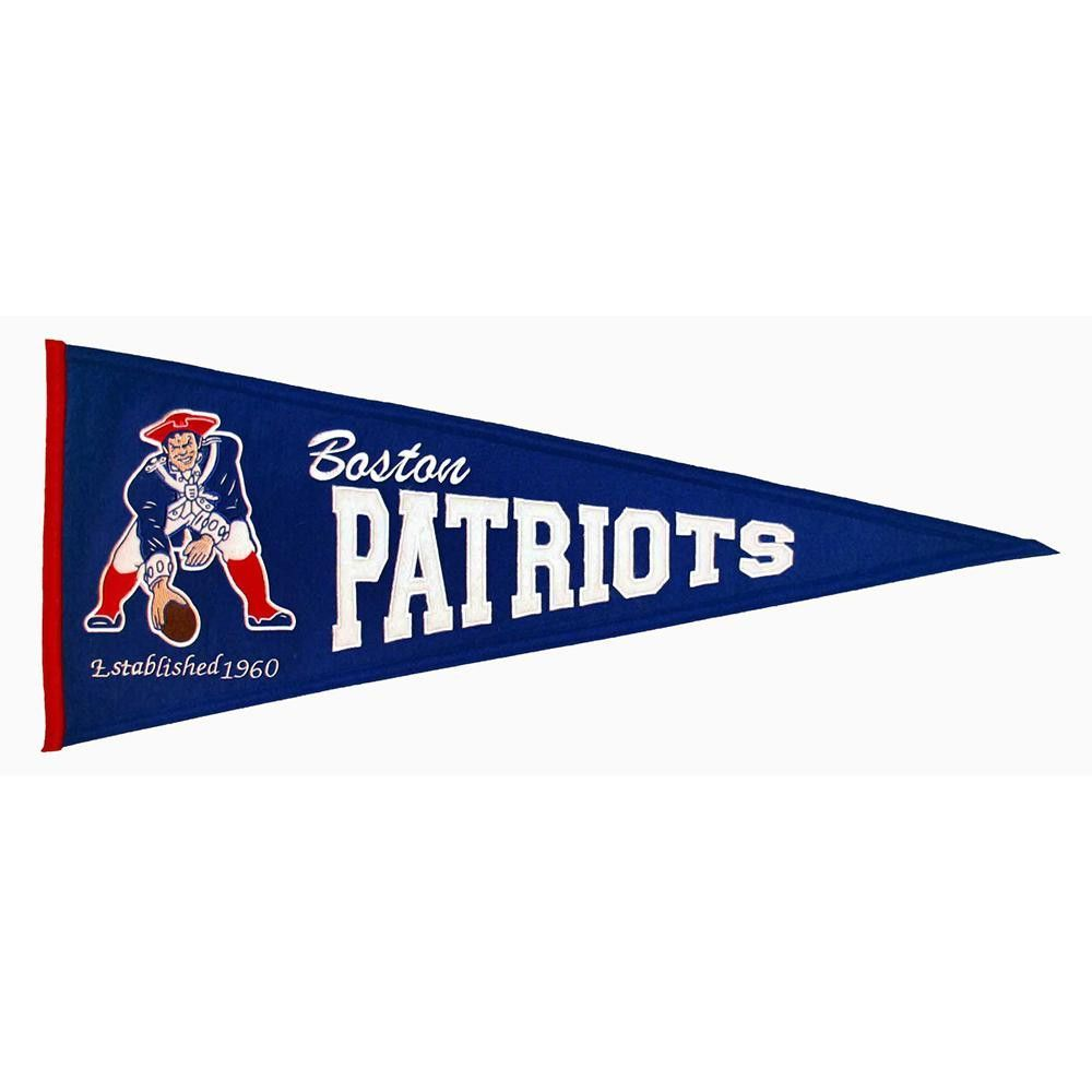 New England Patriots Nfl Throwback Pennant 13x32 New England Patriots Gear Nfl New England Patriots New England Patriots