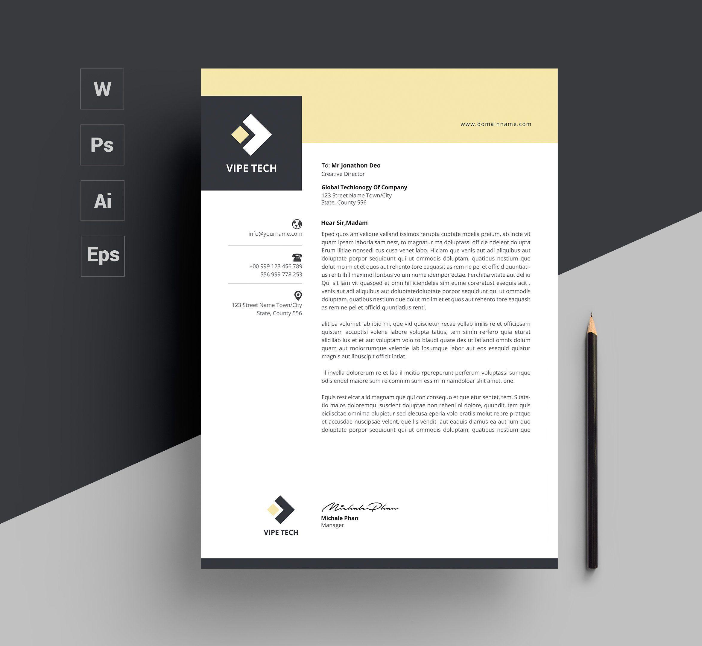 Letterhead Letterhead Template Letterhead Letterhead Design