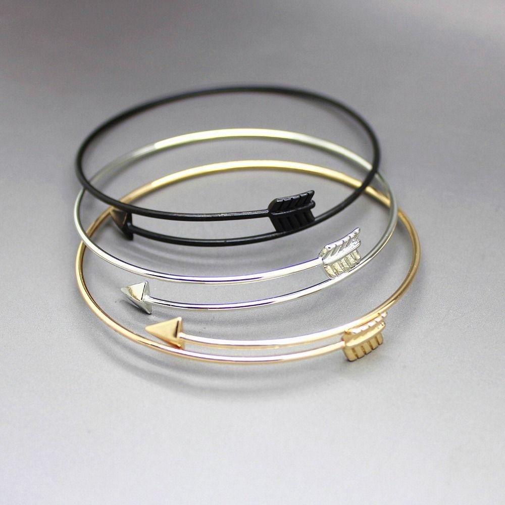 새로운 패션 골드 실버 화살표 팔찌 팔찌 여성 보석 도매 8389