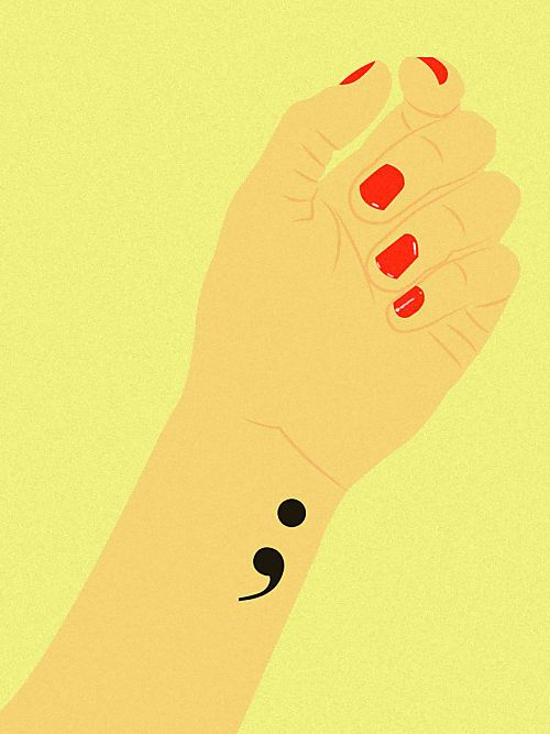 Semikolon Tattoo: Was steckt hinter dem Trend? | Pinterest ...