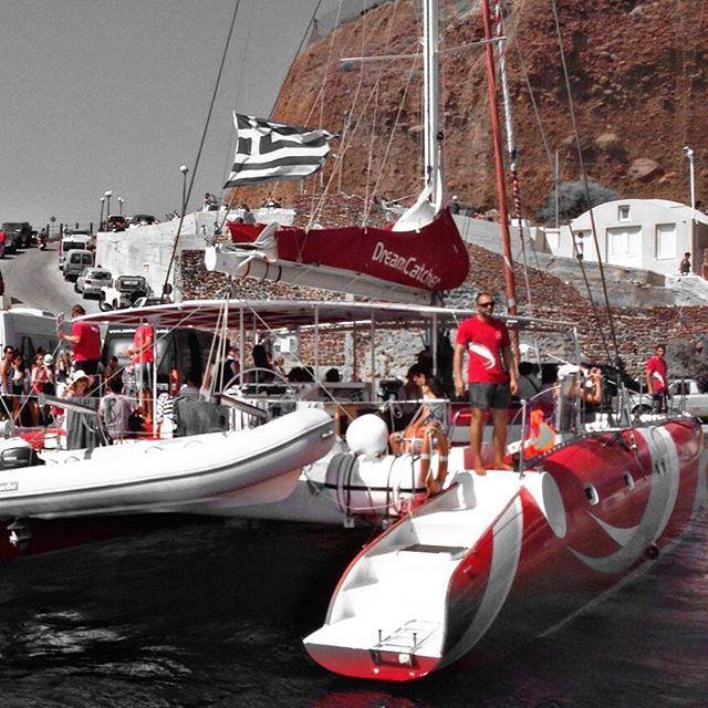 Amoudibayoiasantorinisailingdreamcatchersantorinisailing Inspiration Dream Catcher Boat Santorini