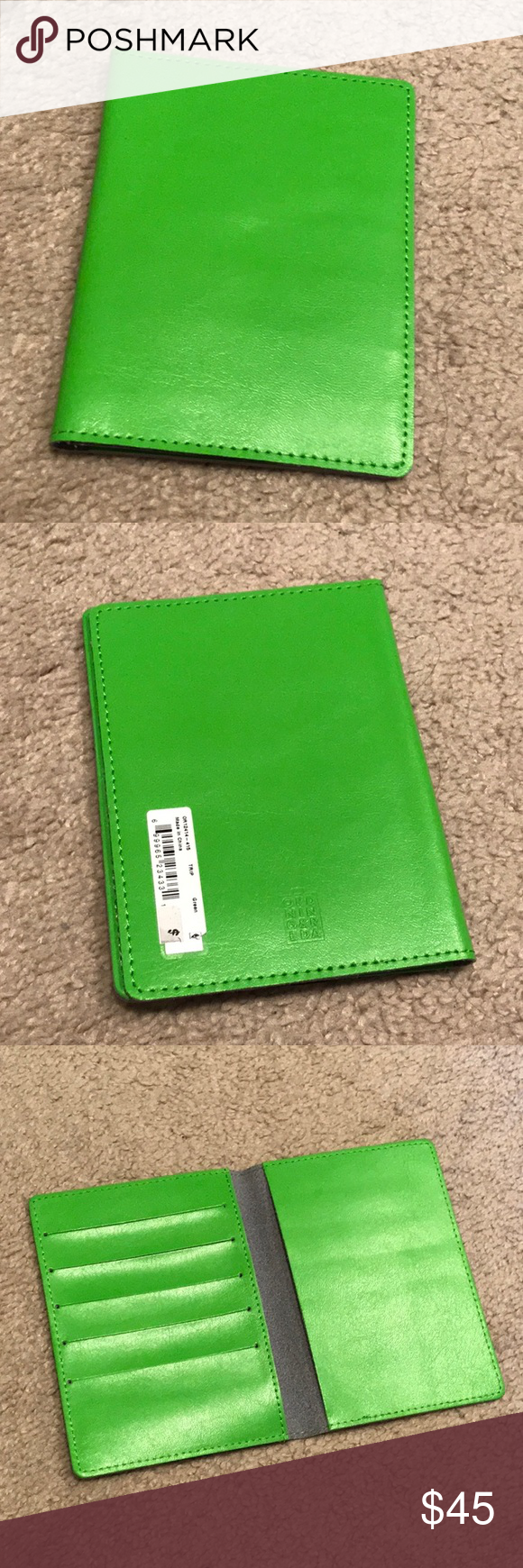 Green PASSPORT Holder. NWT (With images) Green, Clothes