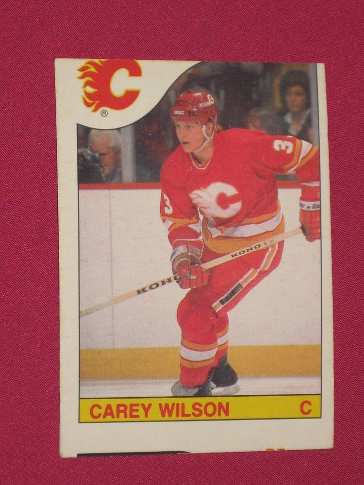 198586 191 Carey Wilson, OPeeChee OPC, Calgary Flames