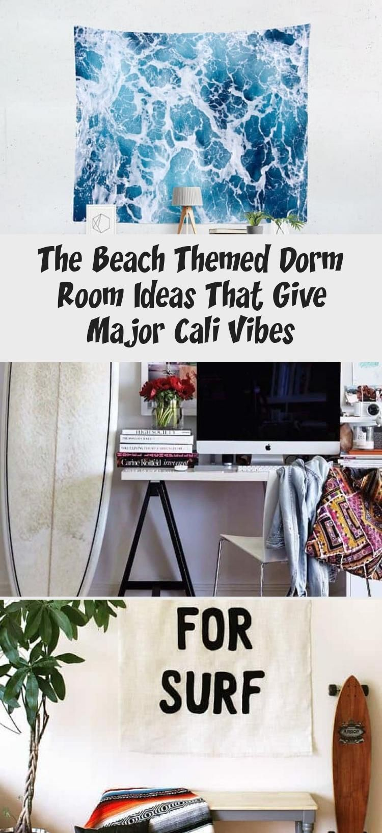 The Beach Themed Dorm Room Ideas That Give Major Cali Vibes  İdeas This beach themed dorm room exudes a mix of ocean and tropical vibes
