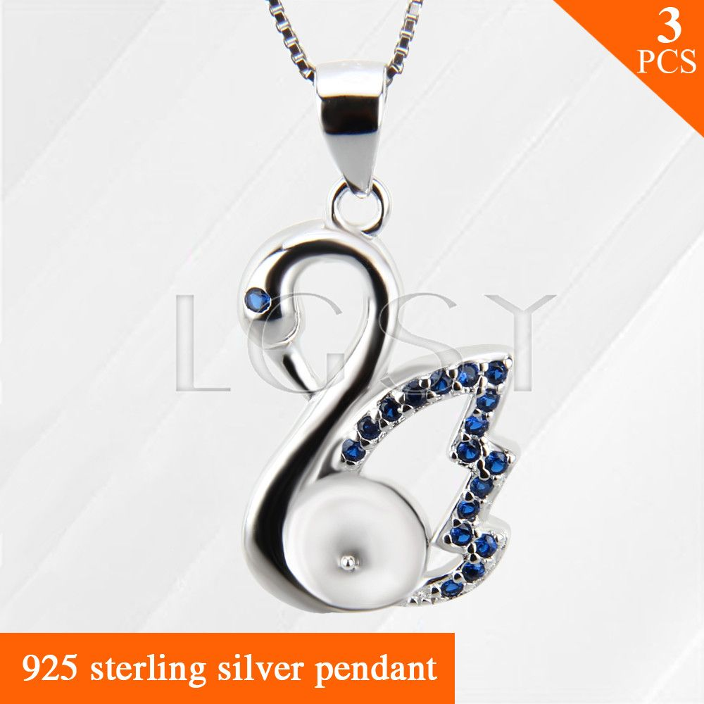 Nice jewelry blue swan charms 925 sterling silver necklace pendant nice jewelry blue swan charms 925 sterling silver necklace pendant accessories 3pcs can stick pearls aloadofball Gallery