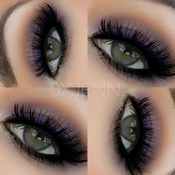 Simple Purple Eye Make Up Hair Makeup Pinterest Make Up And
