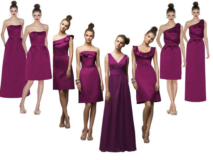 merlot bridesmaid : PANTONE WEDDING Styleboard : The Dessy Group ...