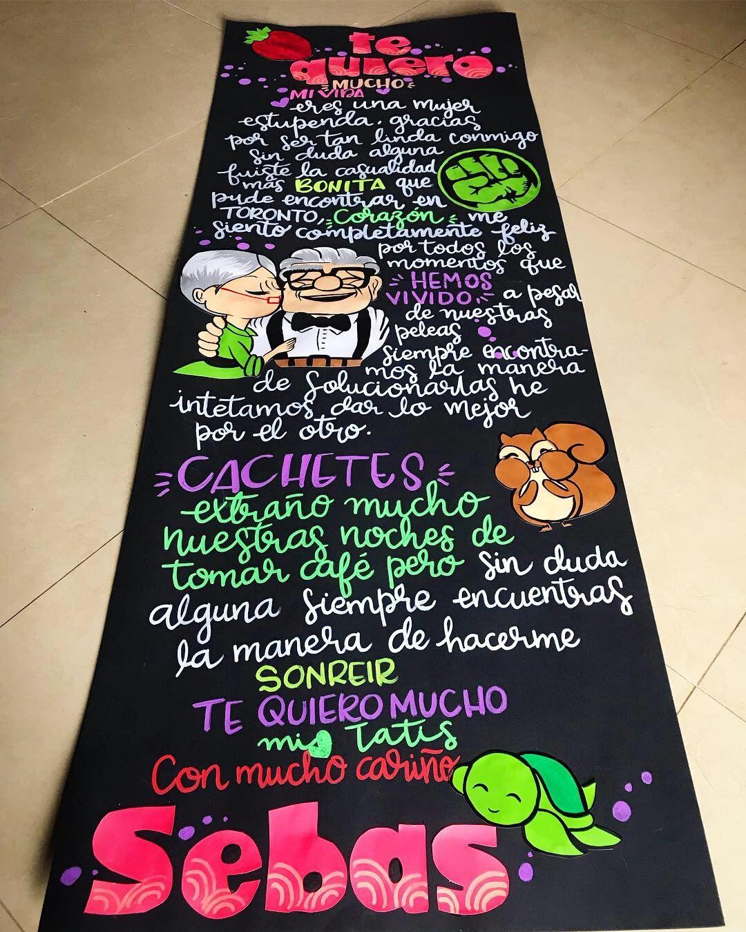 Pin De Gabriela Brenis En Ideas Journal Book Cartel Para Mi Novio Cartas Para Novio Regalos Pequeños Para Novios