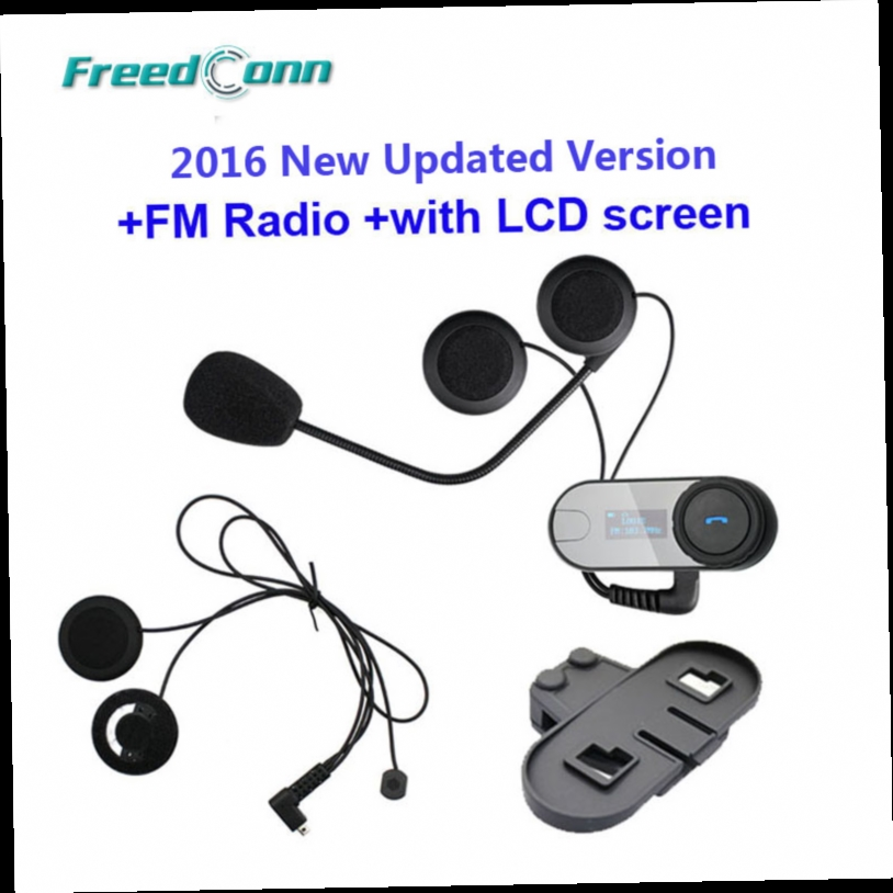 49.22$  Buy now - http://alip6k.worldwells.pw/go.php?t=32408832618 - FreedConn TCOM-SC W/Screen Bluetooth Helmet Intercom Headset+Extra Soft Earpiece+Extra Bracket Free Shipping!! 49.22$