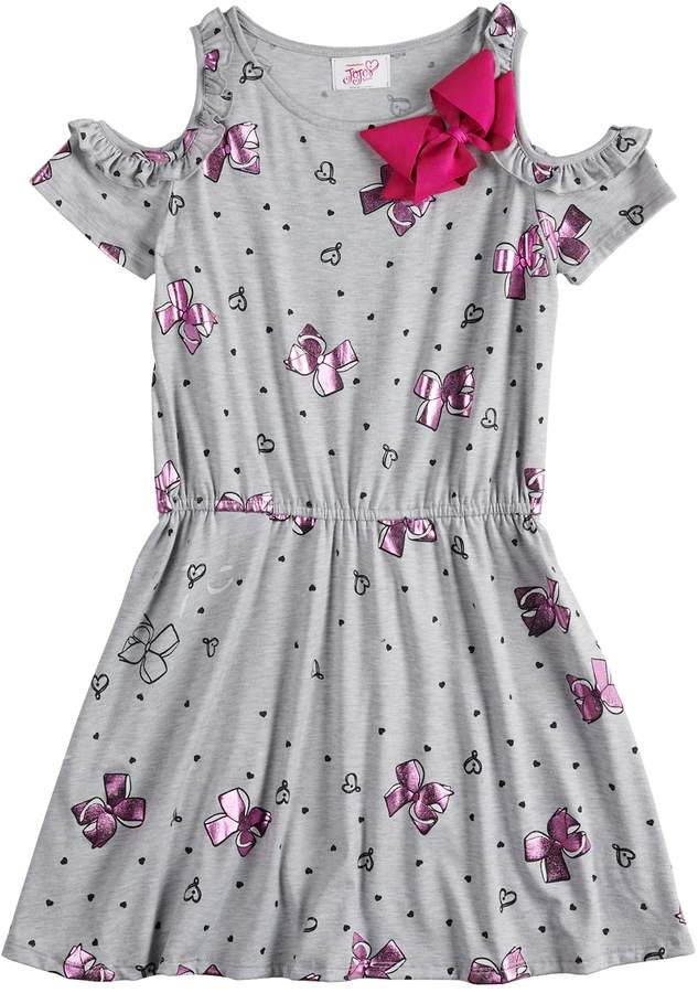 bc72d804bae8f Girls 7-16 JoJo Siwa Ruffled Cold Shoulder Dress with Bow Accent ...