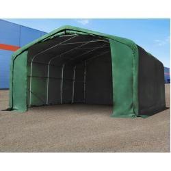 Photo of Zelthalle 6x6m Pvc 550 g/m² dunkelgrün wasserdicht Industriezelt Toolport
