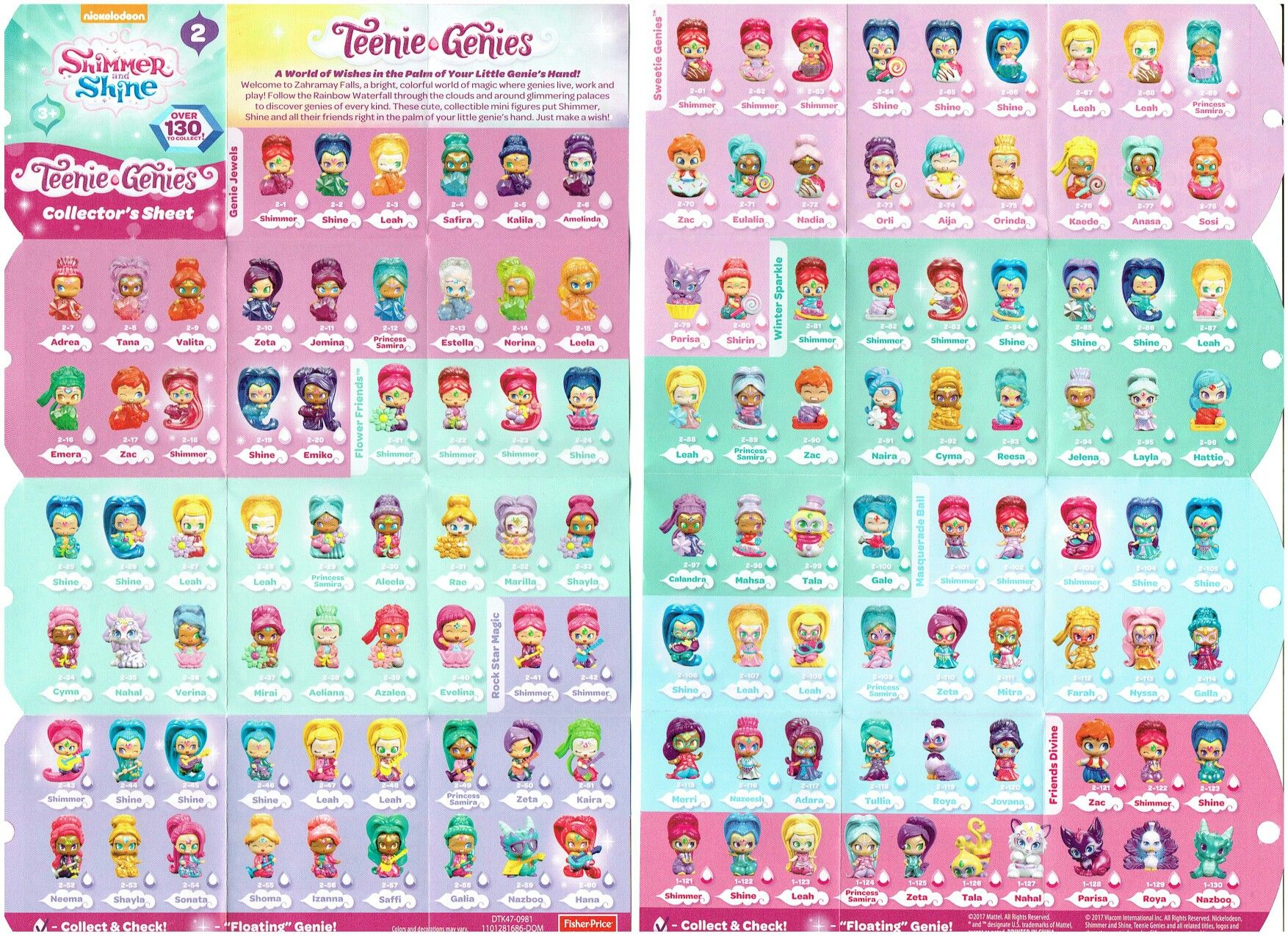 Teenie Genies Collector S Sheet Genies Shimmer Shine Teenie