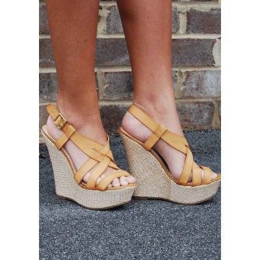 e15127cdb15 Tan Wedge Sandals - Love. These. Wedges! | Women's Apparel | Tan ...