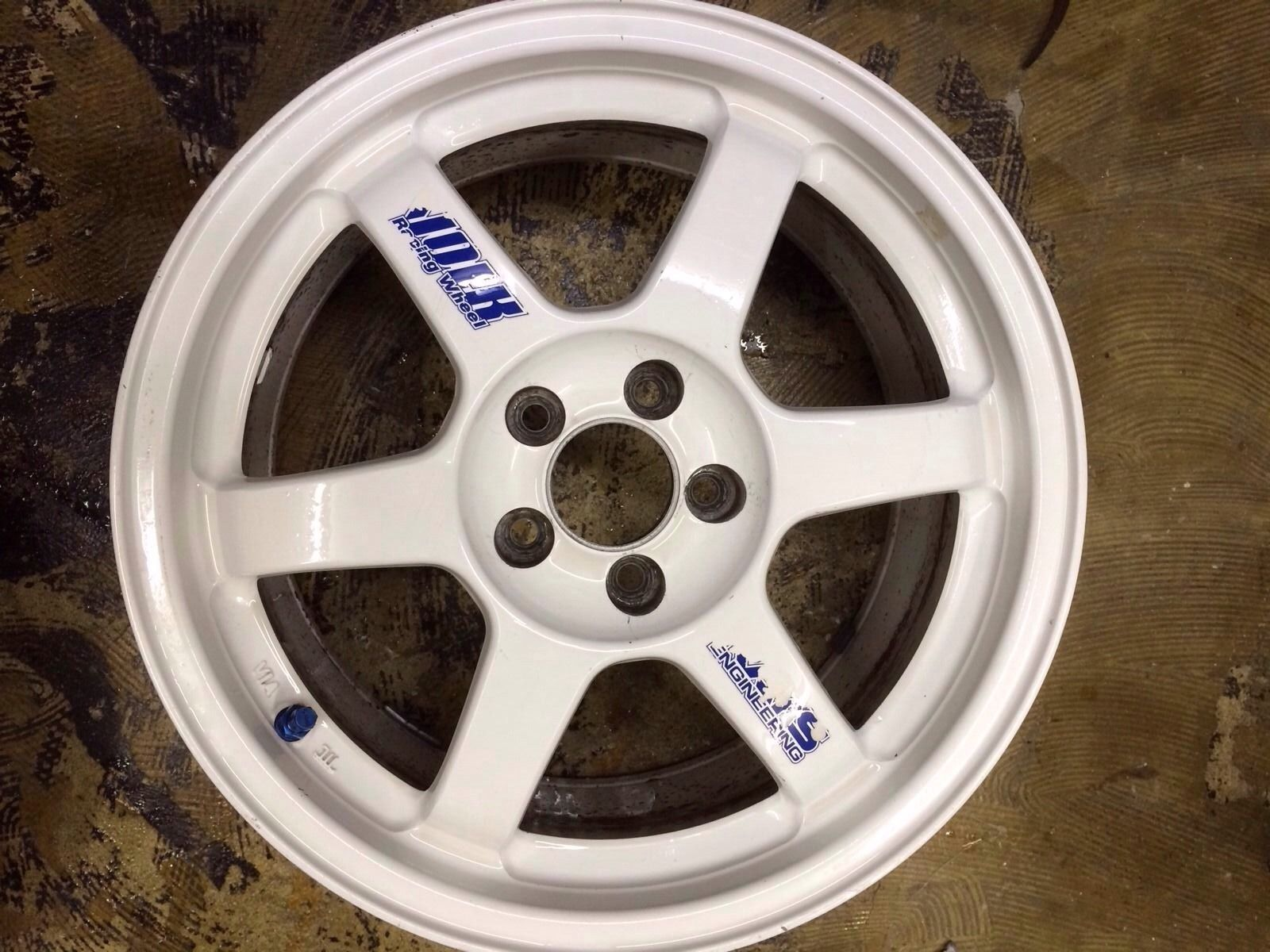 Volk racing rims pre owned rays forged jdm white powder coated wheels