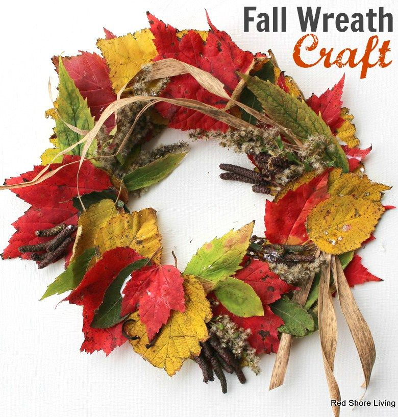 Wreath Crafts For Kids Part - 45: Fall Wreath Craft For Kids And Seniors - Red Shore Living