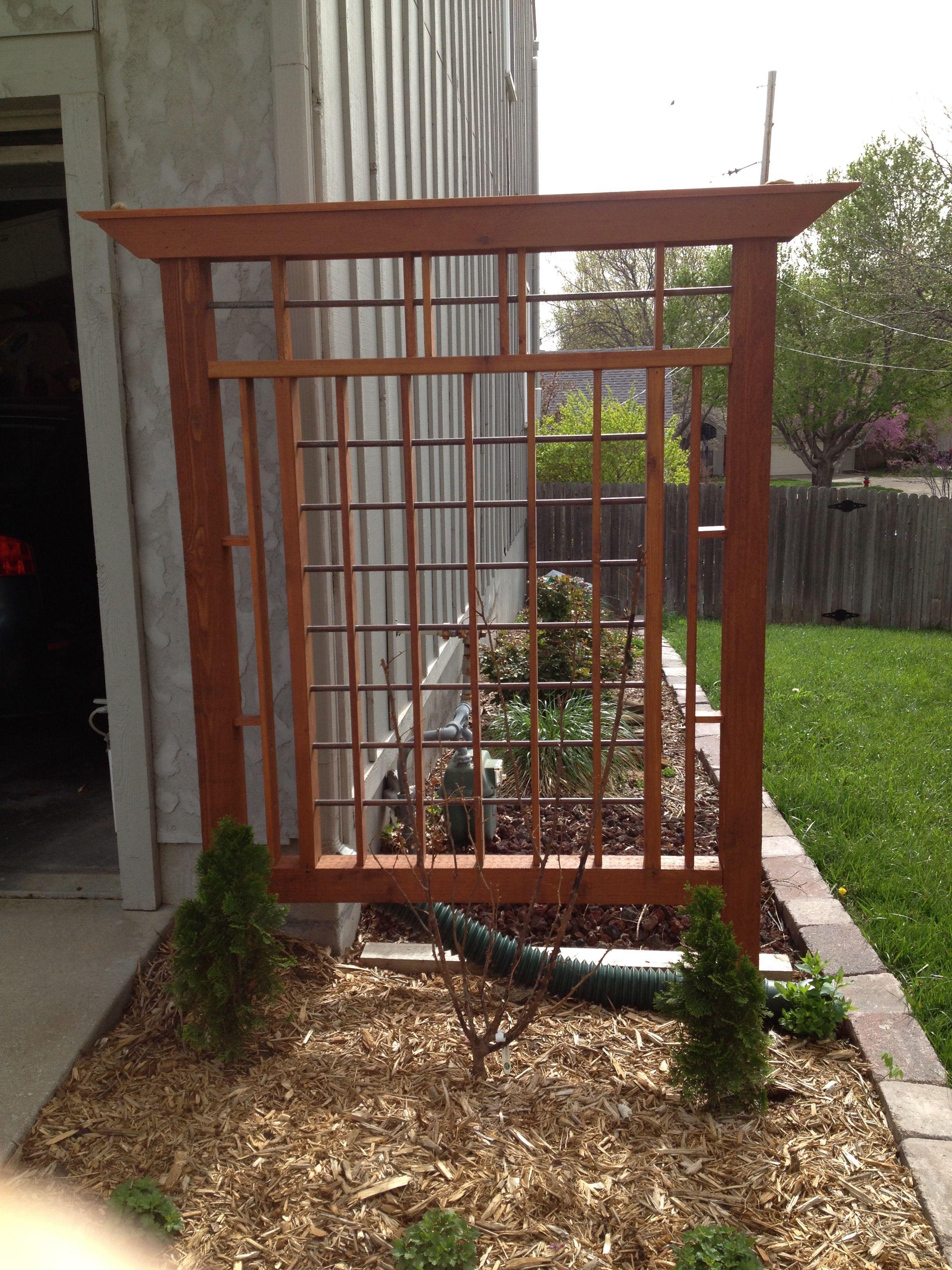 Cedar And Copper Trellis Garden Trellis Cedar Trellis