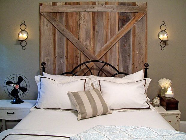 DIY Rustic Headboards | Decorating Your Small Space  Www.decoratingyoursmallspace.com