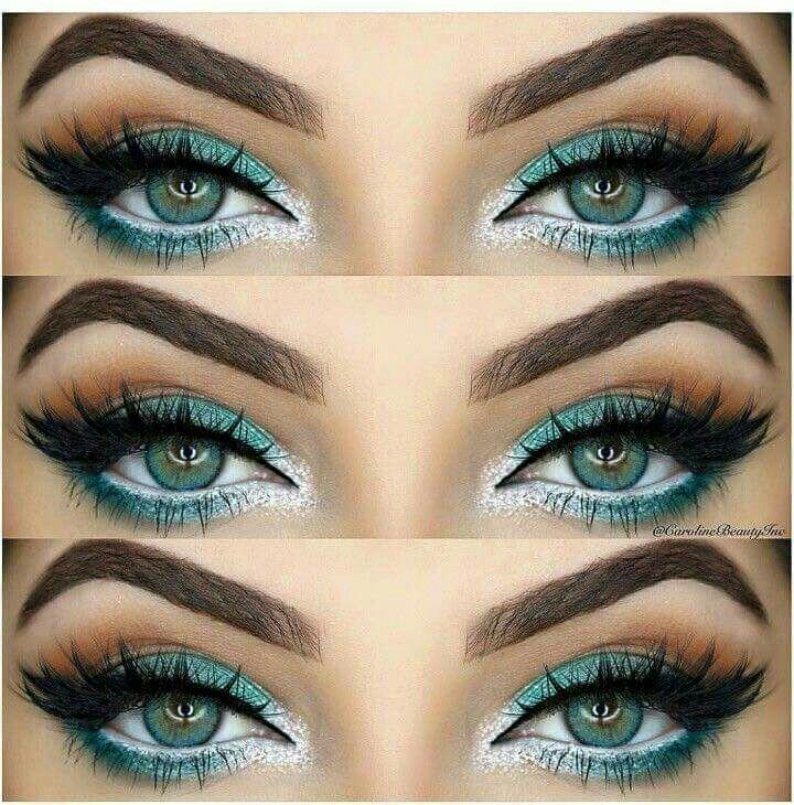 Teal And Silver Eye Makeup Silver Eye Makeup Rock Makeup