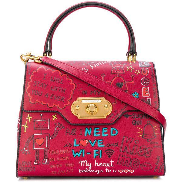 Dolce & Gabbana Sac À Main De Bienvenue - Rouge Le Moins Cher Collections Bon Marché Commander Prix Pas Cher Obtenir La Dernière Mode Authentique À Vendre ctxBcfOaL