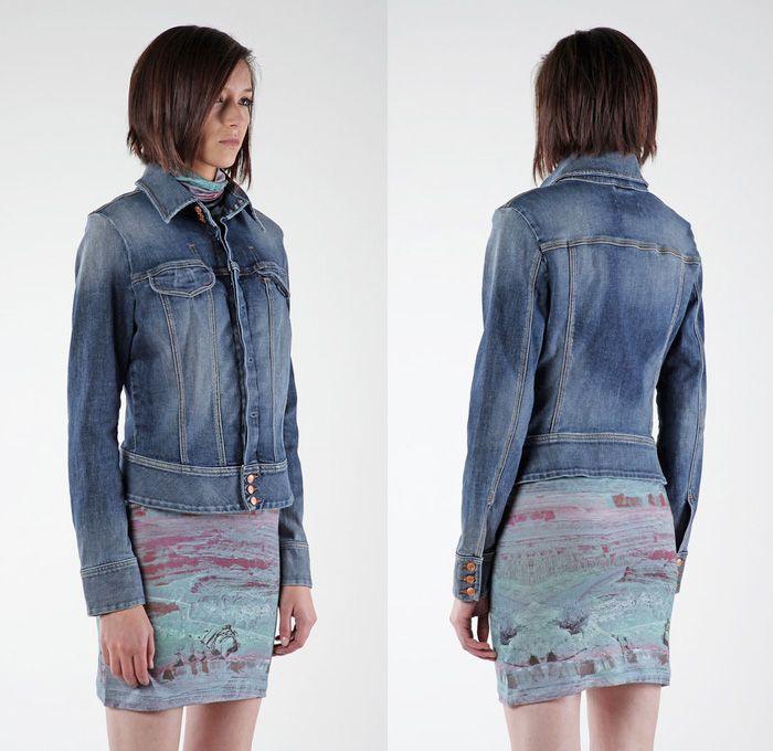 Diesel De-Chitra Denim Jacket - Diesel 2014 Spring Summer Womens Preview Made in Denim Picks