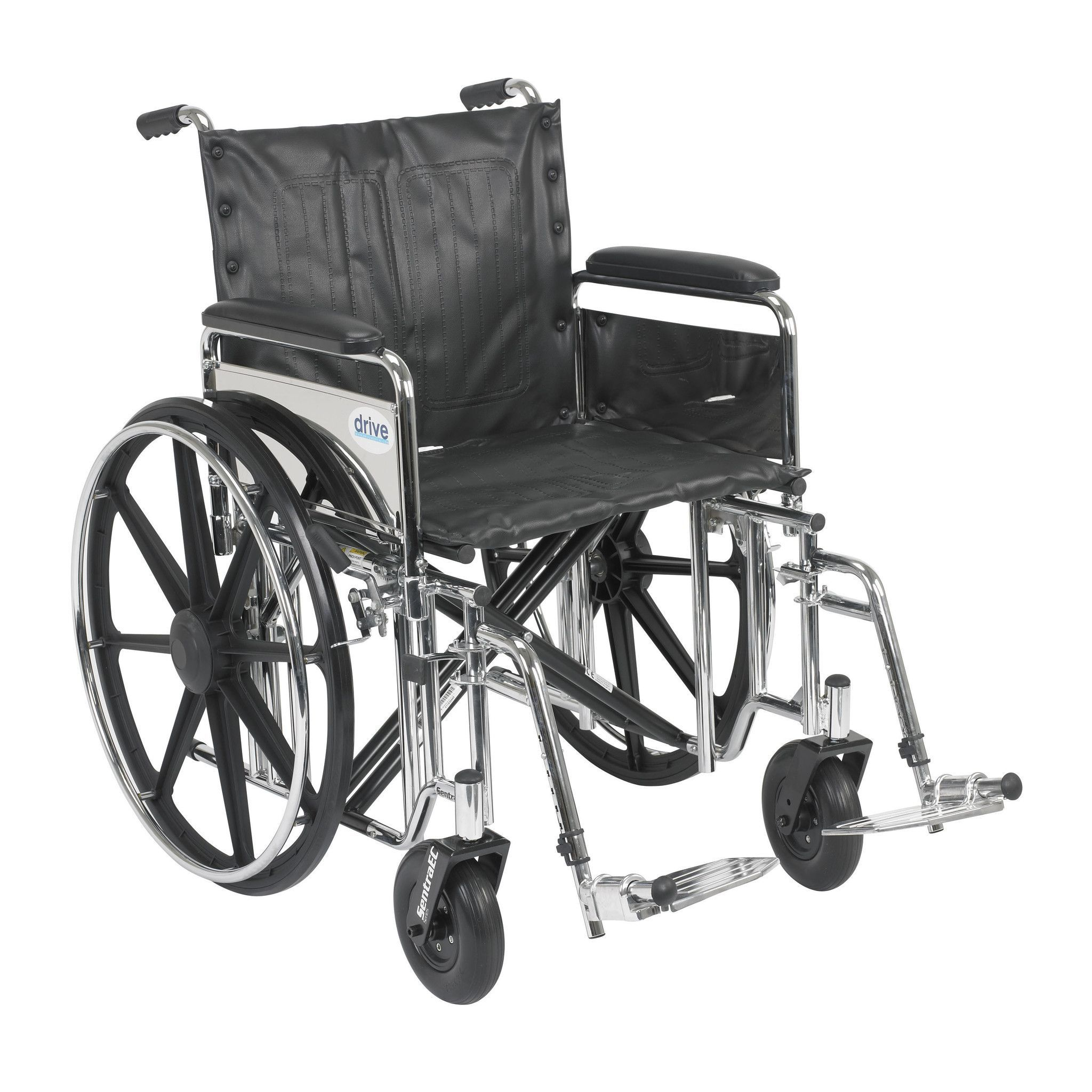 Sentra Extra Heavy Duty Wheelchair, Detachable Full Arms