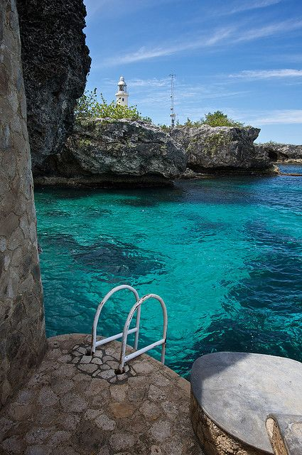 It's like a pool, but it's the ocean! Negril, Jamaica.