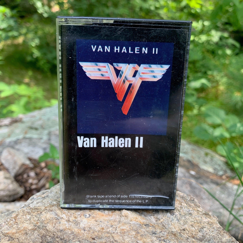 Vintage Van Halen 2 Cassette Tape David Lee Roth Motley Crue Aerosmith Acdc Sammy Hagar Whitesnake Tesla Twisted Sister Lita For In 2020 Van Halen Twisted Sister Halen